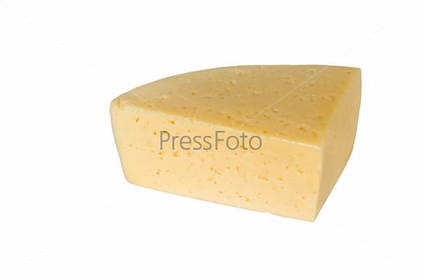 Кусок желтого сыра