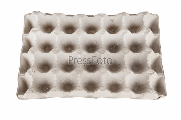 Фотография на тему Пустой лоток для яиц, изолировано