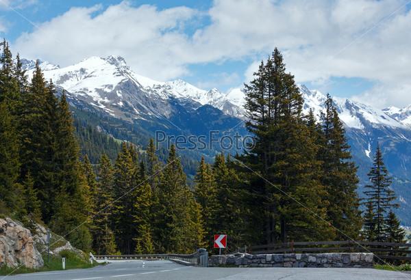 Альпийская дорога (Форарльберг, Австрия)