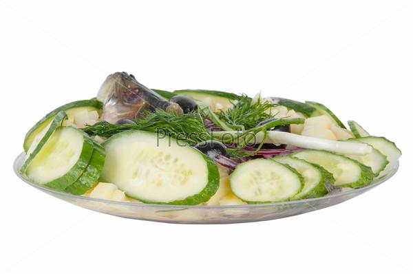 Картофель, сельдь и лук