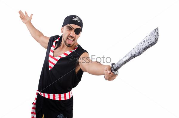 Фотография на тему Мужчина в костюме пирата в Хэллоуин