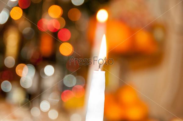Фотография на тему Свечи и боке