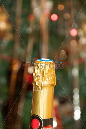 Фотография на тему Бутылка шампанского и боке