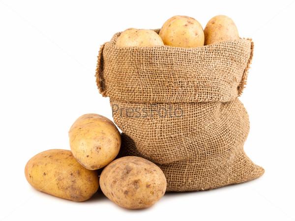 Фотография на тему Мешок спелого картофеля
