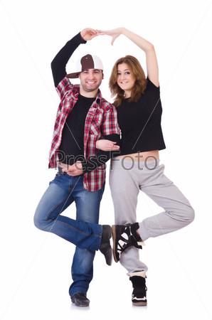 Пара современных танцоров
