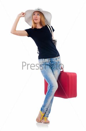 Молодая женщина готовится у отдыху