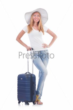 Фотография на тему Молодая женщина готова к отдыху