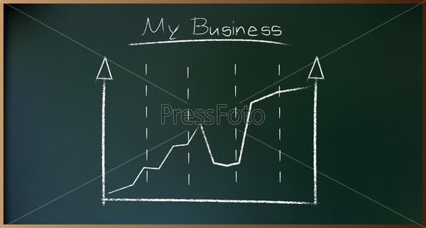 Бизнес-план на доске в векторе