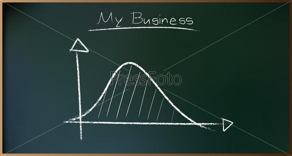 Фотография на тему Бизнес-план на доске в векторе