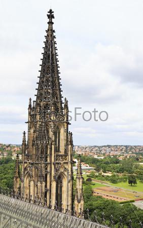Башня собора Святого Вита в Праге. Чешская Республика