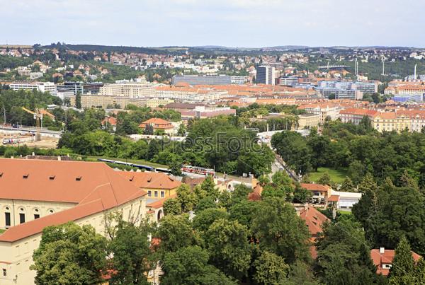 Вид с башни собора Святого Вита. Прага