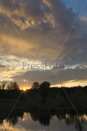 Фотография на тему Закат над озером