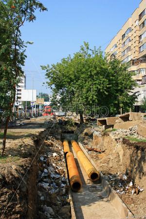 Ремонт труб теплотрассы в Екатеринбурге