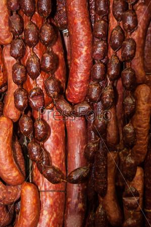 Фотография на тему Копченая колбаса, салями