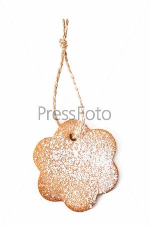 Фотография на тему Рождественское печенье, изолированное на белом фоне