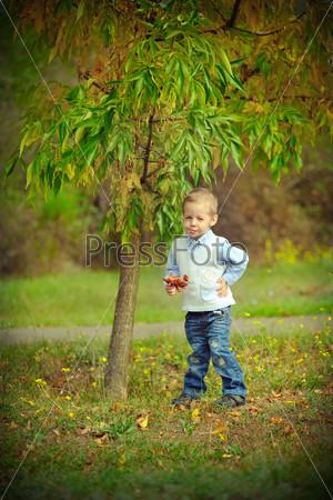 Фотография на тему Ребенок в осеннем парке