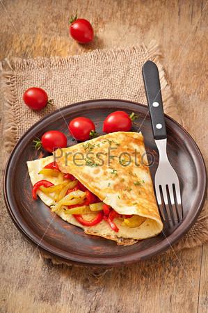 Фотография на тему Омлет с запеченным перцем