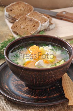 Фотография на тему Куриный суп