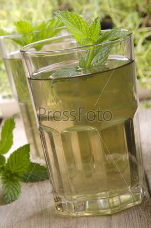 Фотография на тему Мятный чай с мятой