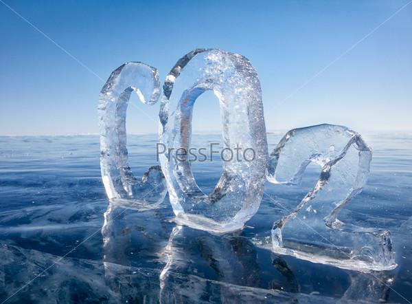 Фотография на тему Ледяная химическая формула углекислого газа CO2
