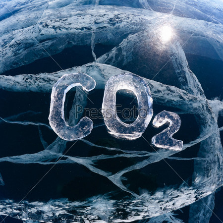 Ледяная химическая формула углекислого газа CO2