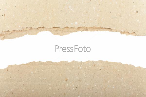 Обрывки коричневой бумаги