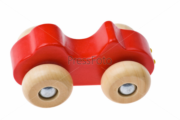 Деревянный игрушечный автомобиль