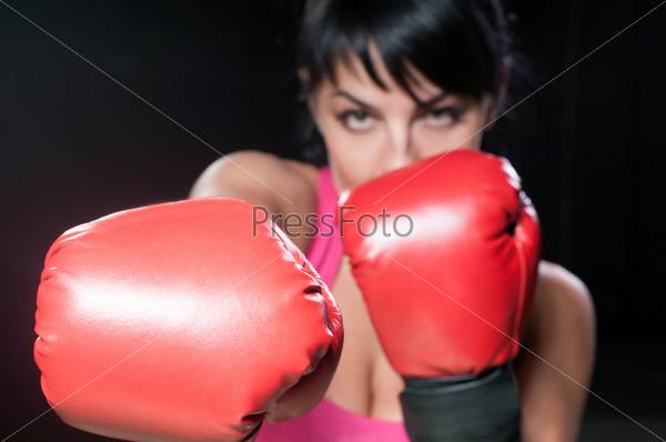 Фотография на тему Девушка-боксер