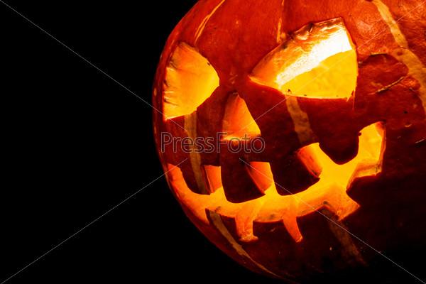 Хэллоуин. Фонарь из тыквы