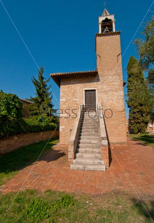 Фотография на тему Венеция, Италия, Торчелло, колокольня
