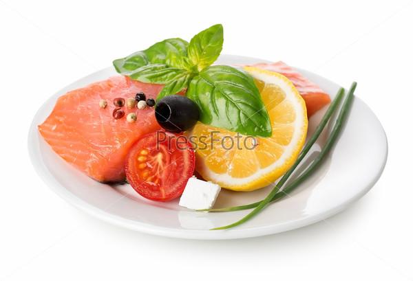 Фотография на тему Филе лосося с овощами