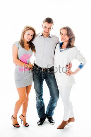 Фотография на тему Компания счастливых и красивых молодых людей