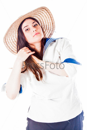 Молодая и красивая морячка