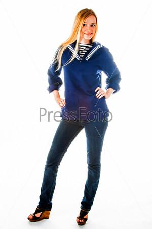 Фотография на тему Молодая и красивая морячка