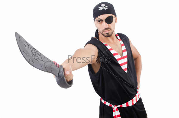 Фотография на тему Человек в костюме пирата на Хэллоуин