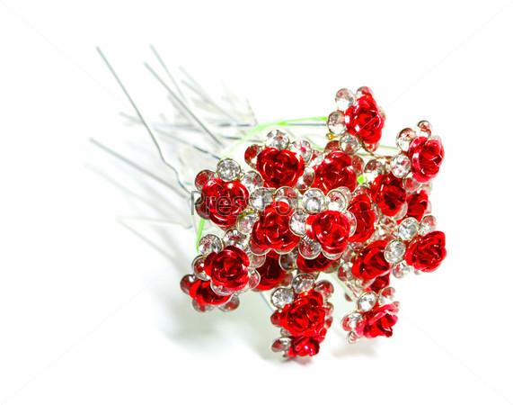 Шпильки с цветами