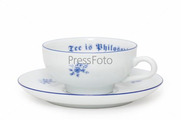 Чайные чашка и блюдце