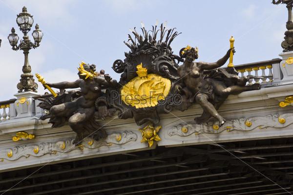 Фотография на тему Мост Александра 3, Париж
