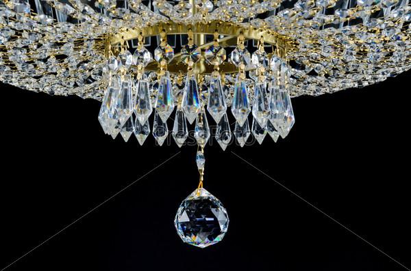 Фотография на тему Фрагмент современной стеклянной люстры