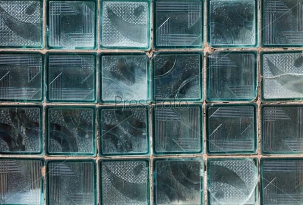 Фотография на тему Старые стеклянные блоки, фон