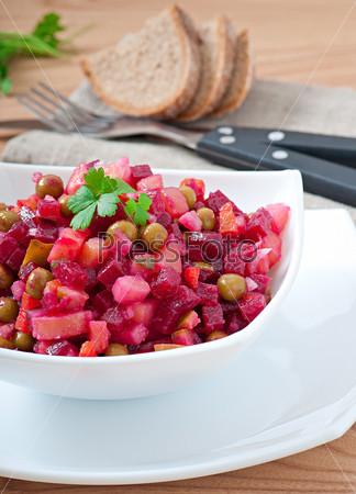 Традиционный русский свекольный салат