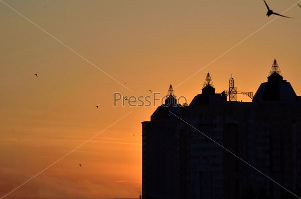 Фотография на тему Закат в городе