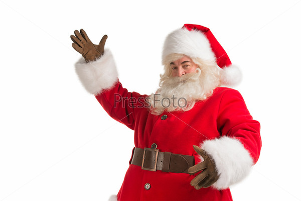 Санта-Клаус жестикулирует