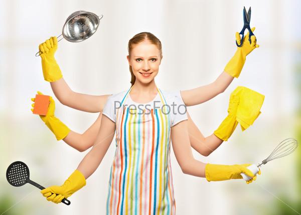 Фотография на тему Всесильная универсальная женщина с кучей рук