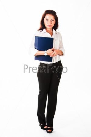 Молодой красивый секретарь