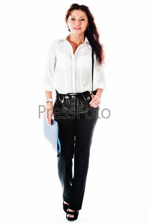 Фотография на тему Молодая и красивая женщина секретарь