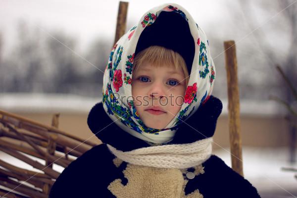 Фотография на тему Девочка в старом русском стиле