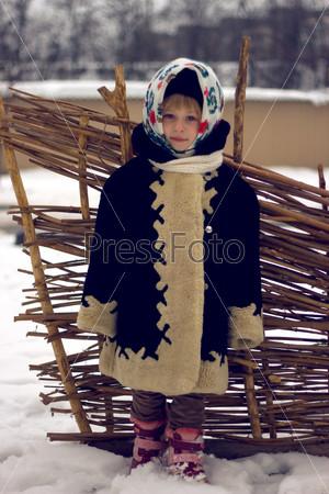 Девочка в старом русском стиле