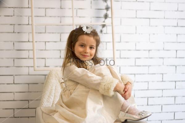 Фотография на тему Девочка в зимнем праздничном платье х