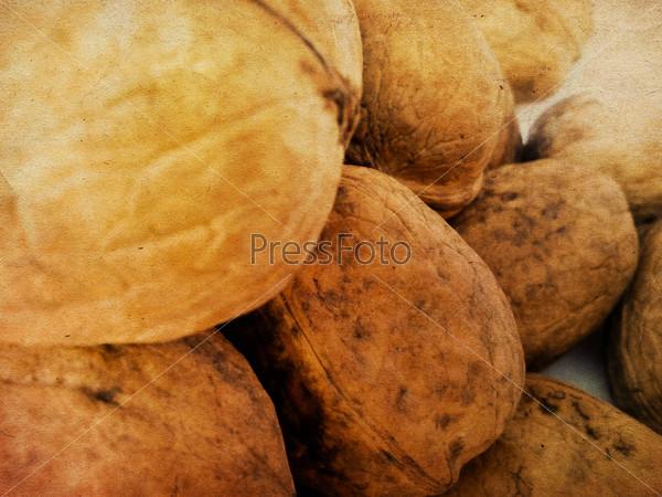 Фотография на тему Грецкие орехи, фон